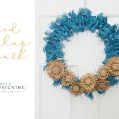 Tied Burlap Wreath