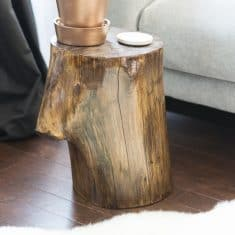 DIY Tree Trunk Side Table | West Elm Knock Off