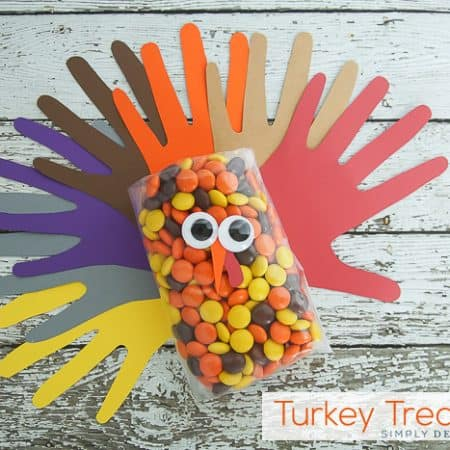 Handprint Turkey Treat Bags