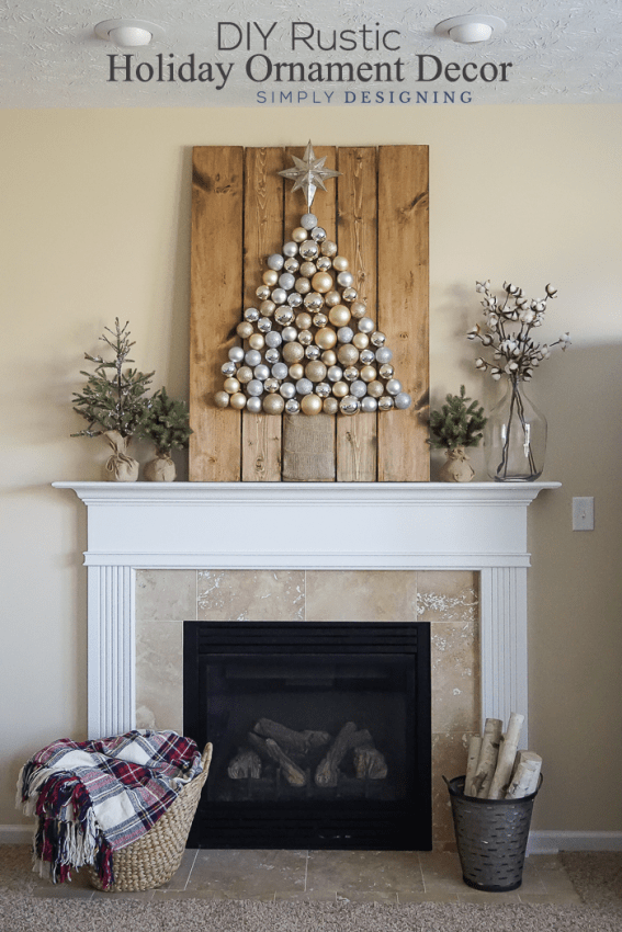 DIY Rustic Holiday Ornament Decor
