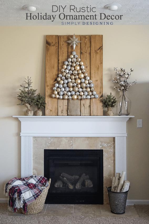 DIY Rustic Holiday Ornament Decor