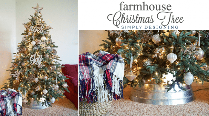 farmhouse christmas tree collagepng - Farmhouse Christmas