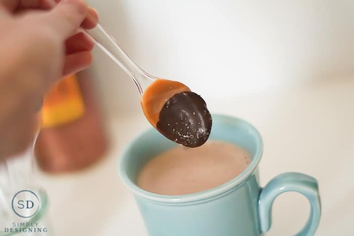Salted Caramel Hot Cocoa Spoons