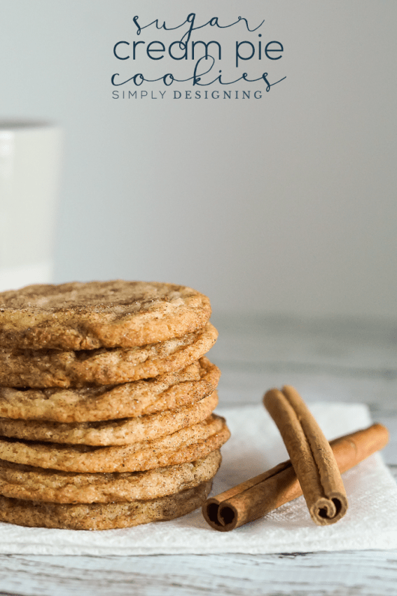 Sugar Cream Pie Cookies - a yummy recipe for these delicious Indiana Hoosier pie inspired cookies