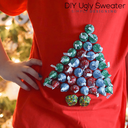 DIY Ugly Sweater with Hershey's Kisses