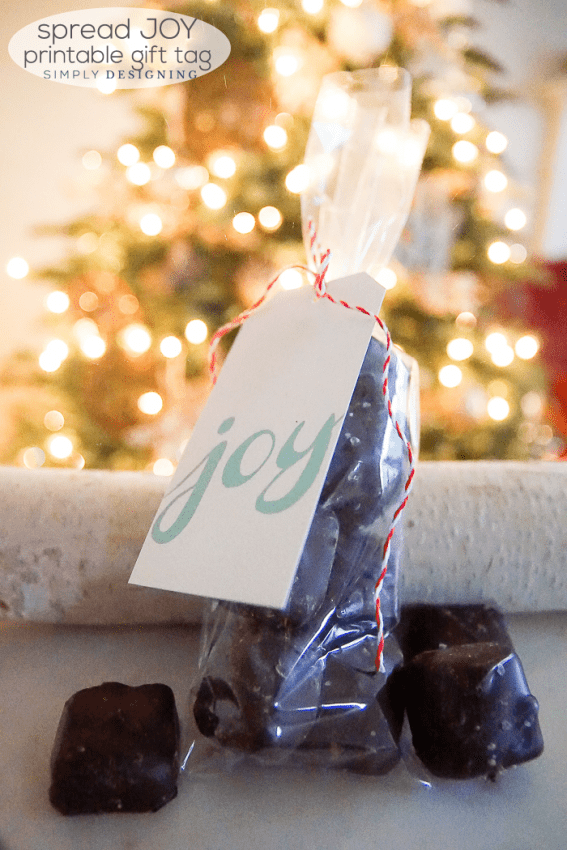 Free Joy Holiday Printable Gift Tag