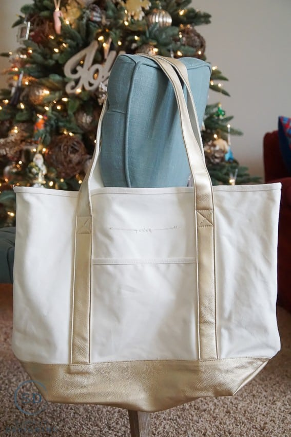 Personalized Gold Tote