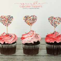 Sprinkle Cake Toppers Store Bought