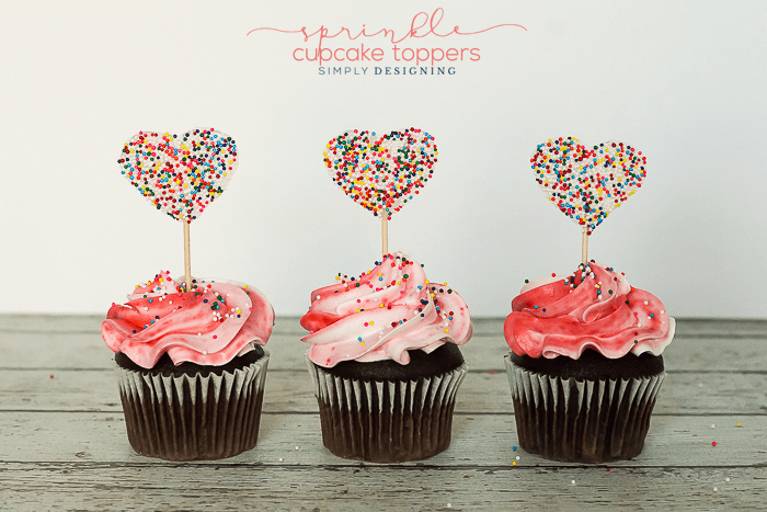 How to make Sprinkle Cupcake Toppers