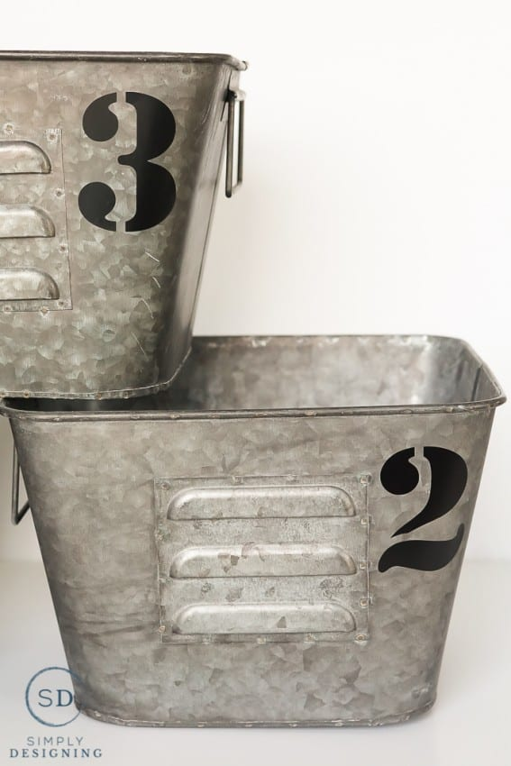 Metal Industrial Bins With Numbers