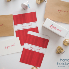 Joyeux Noel Holiday Stamp