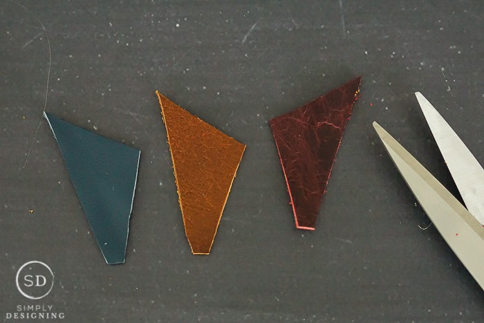 Modern Leather Bookmark - cut leather