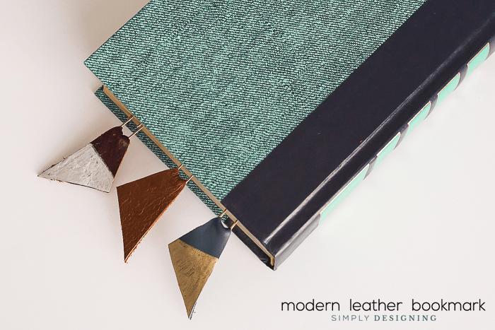 Modern Leather Bookmark