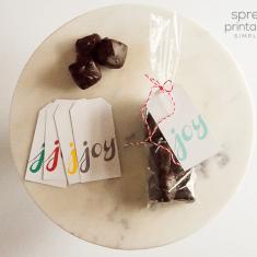 Spread Joy Printable Gift Tag