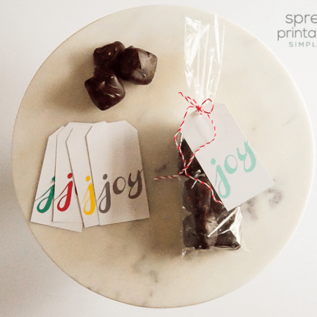 Spread Joy Printable Gift Tag