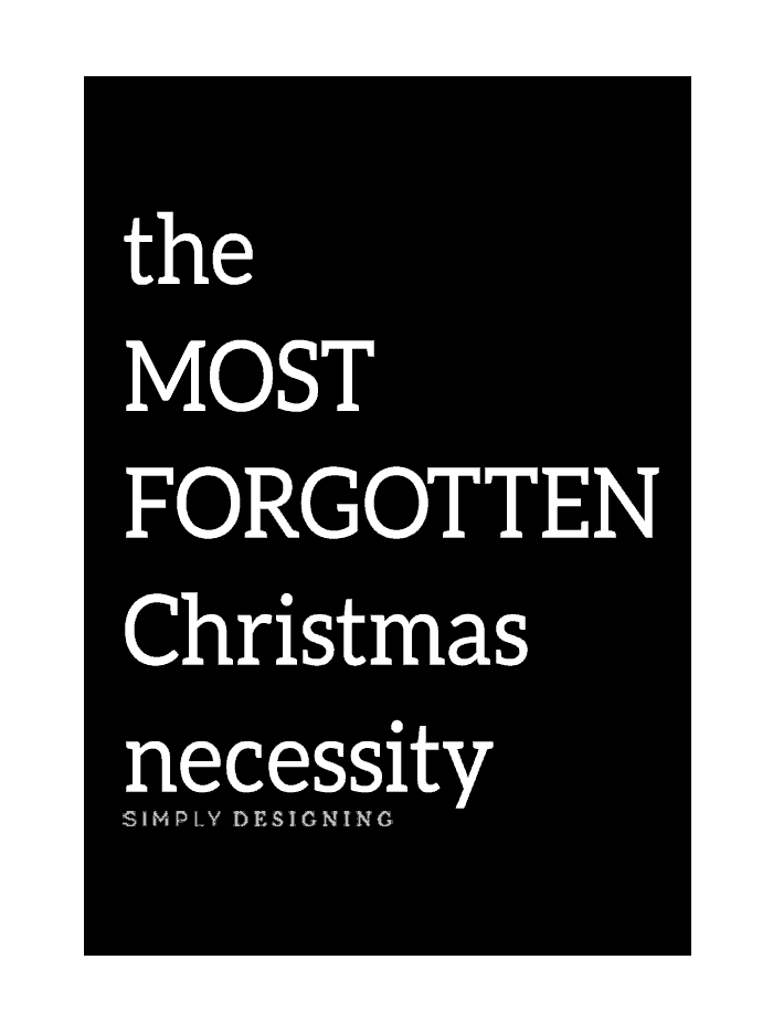 The MOST FORGOTTEN Christmas Necessity