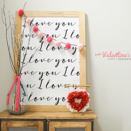 I Love You Printable : perfect print for Valentine's Day