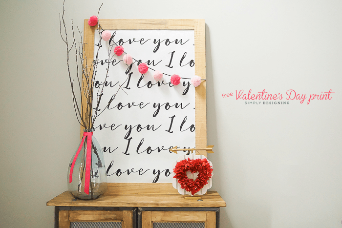 I Love You Printable - perfect Valentines Day Print
