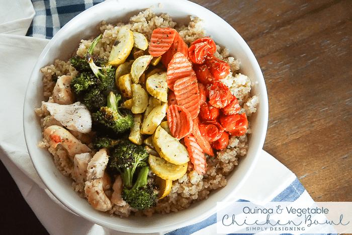 Quinoa and Vegetable Chicken Bowl Recipe