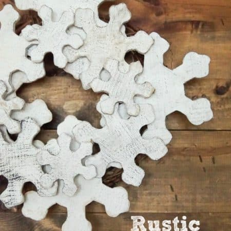 Rustic DIY Snowflake Wreath