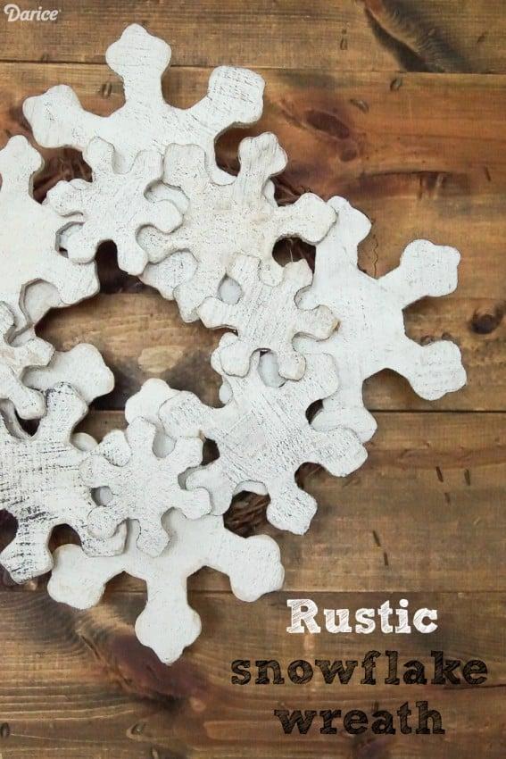 Rustic DIY Snowflake Wreath