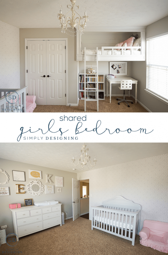 Girls Shared Bedroom and Baby Nursery Reveal