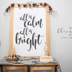 All is Calm All is Bright Free Christmas Printable