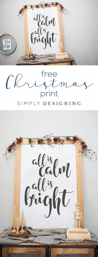 All is Calm All is Bright - Free Christmas Print - Free Christmas Printable - Free Christmas Art
