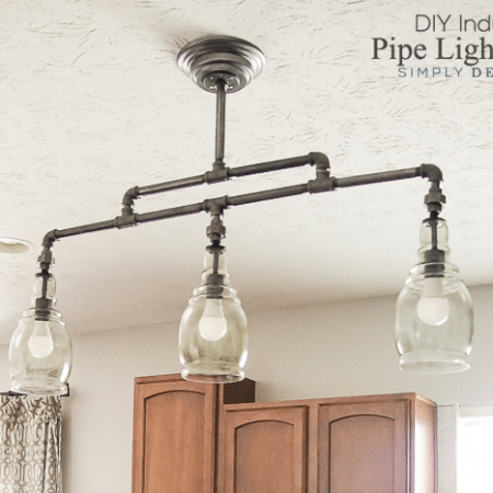 Industrial Pipe DIY Light Fixture