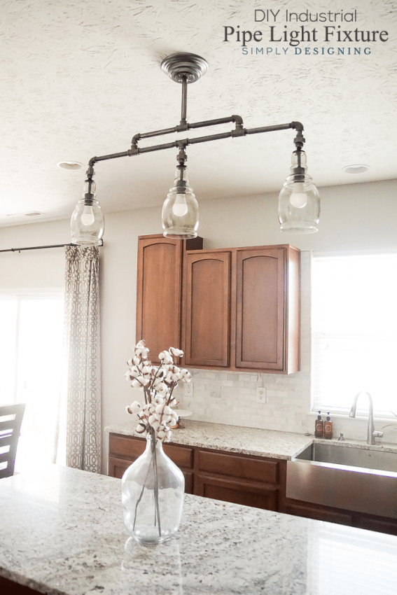 DIY Light Fixture | How to use Industrial Piping for a custom size ...