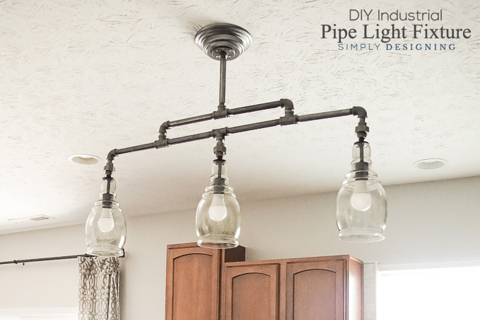DIY Industrial Pipe Light Fixture