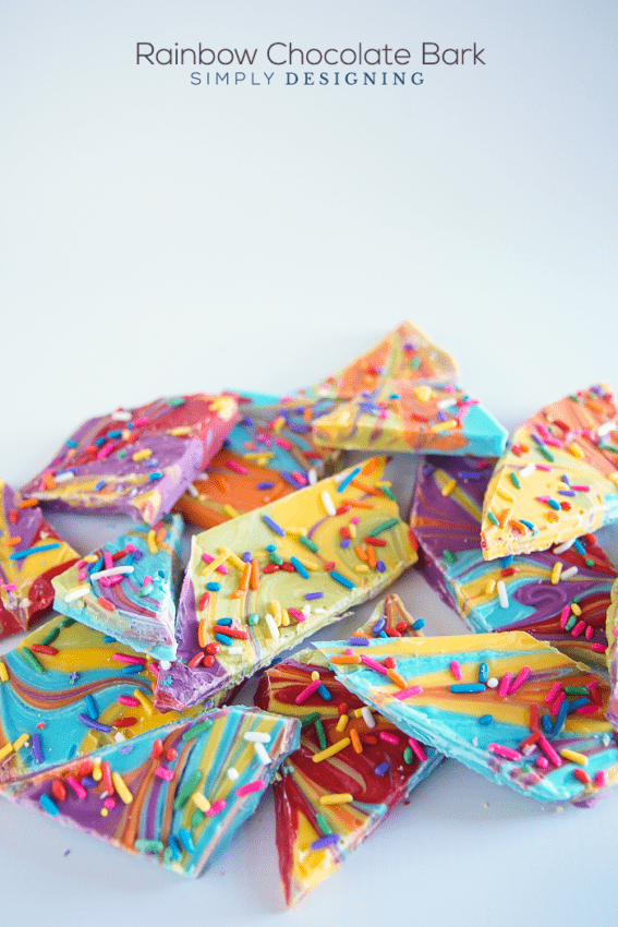 Rainbow Chocolate Bark Recipe