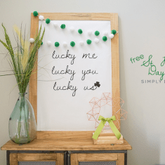 Large St Patricks Day Print : Love Me Love You Love Us