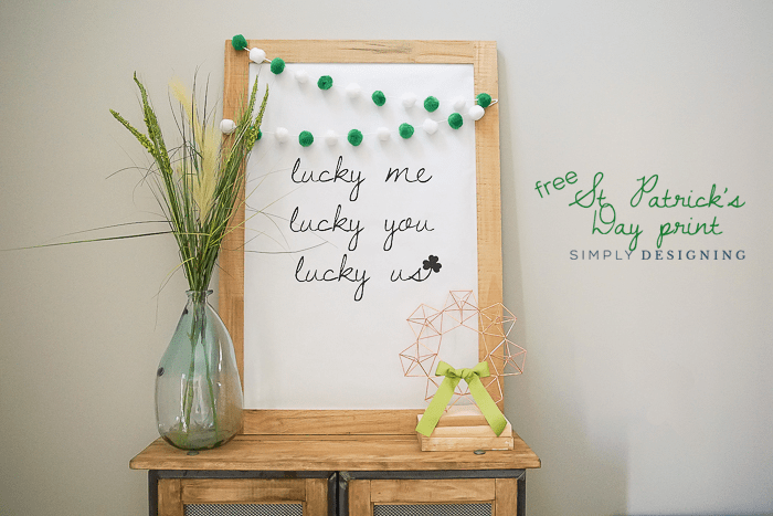 ab9d0457e8d Large St Patricks Day Print   Love Me Love You Love Us