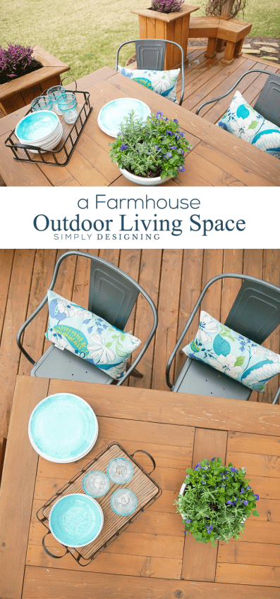 A Farmhouse Outdoor Living Space Update - and it only took a few minutes