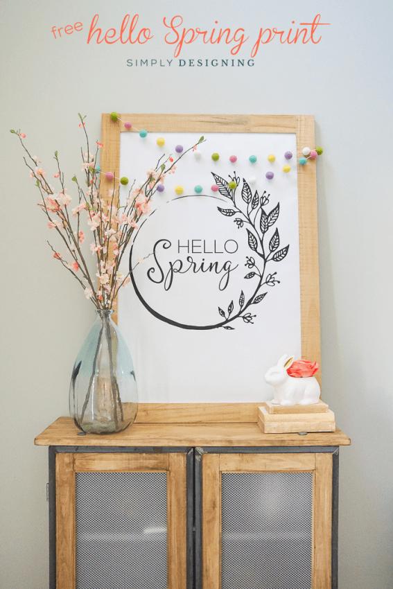 Free Large Hello Spring Print