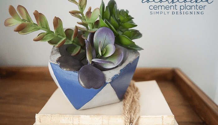 How to Make a Colorblocked Cement Planter