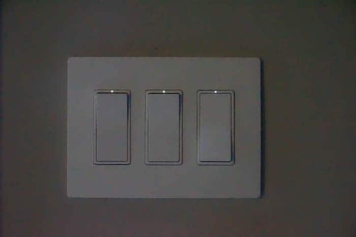 LED light on light switches