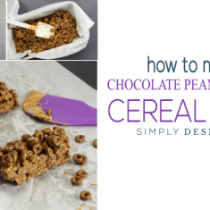 How to make Chocolate Peanut Butter Cereal Bars - easy no-bake recipe