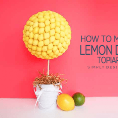 How to Make a Lemon Drop Topiary