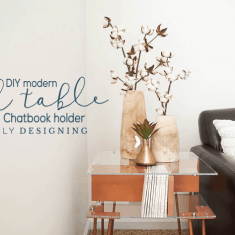 Modern End Table that is easy to make yourself in a weekend