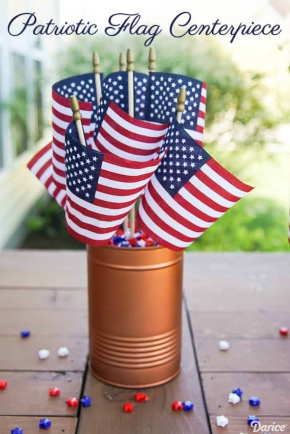 flag centerpiece
