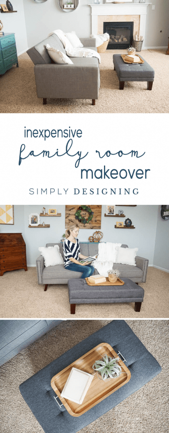 Inexpensive Family Room Update | family room makeover | living room update | living room makeover | budget friendly family room