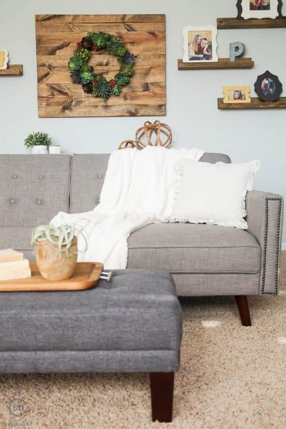 Inexpensive Family Room Update