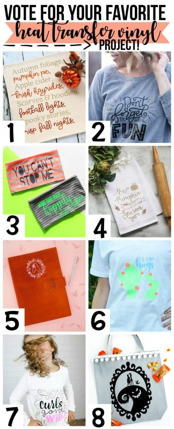 vote for your favorite heat transfer vinyl project