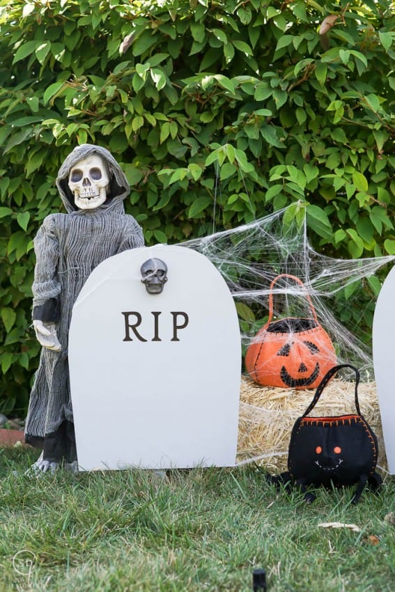 Excellent DIY Harvest Yard Sign : RIP Headstone Decoration MQ51