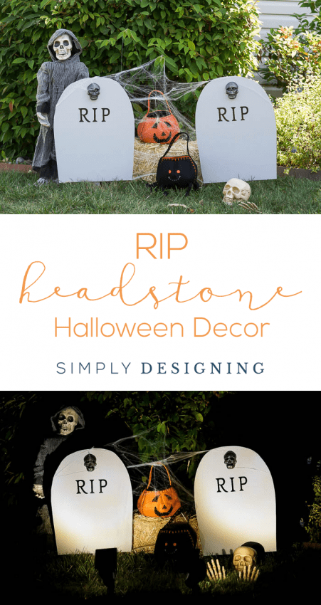 DIY Harvest Yard Sign - RIP Headstone Decoration - Halloween Decor