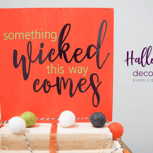Easy DIY Halloween Decoration with Vinyl