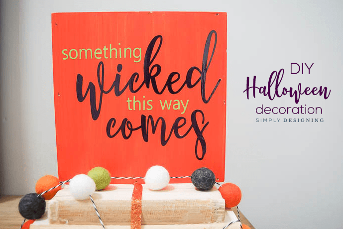 Easy DIY Halloween Decoration with Vinyl