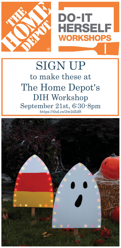 Make this Harvest Yard Sign at The Home Depot | #sponsored https://thd.co/2w2dIdS #DIYWorkshop #DIHWorkshop
